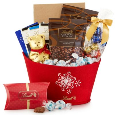 Lindt Seasonal Delights Holiday Gift Basket