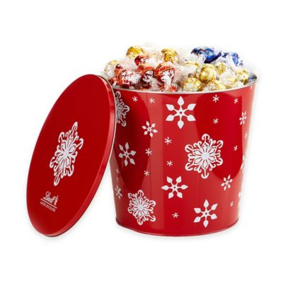 Lindt Lindor 175-Count Assorted Chocolate Truffle Jumbo Snowflake Gift Tin