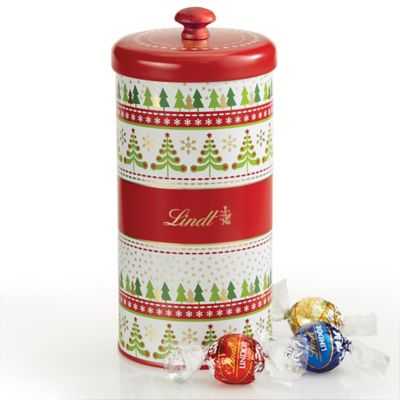 Lindt Lindor 25-Count Assorted Chocolate Truffle Holiday Trees Gift Tin