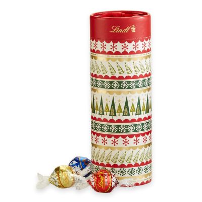 Lindt Lindor 20-Count Assorted Chocolate Truffle Holiday Trees Gift Tube