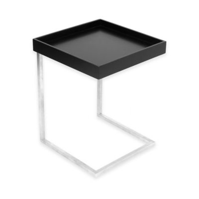 LumiSource Zenn End Table with Removable Black Tray