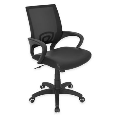 LumiSource Officer Office Chair in Black