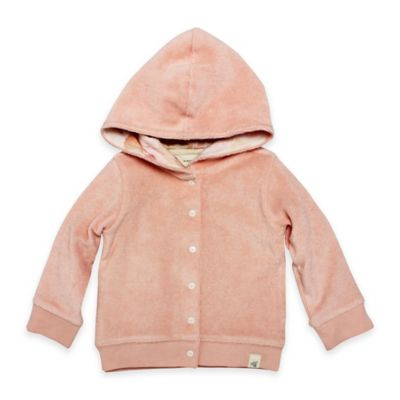 Burt's Bees Baby® Size 3M Organic Cotton Knit Terry Jacket in Peach
