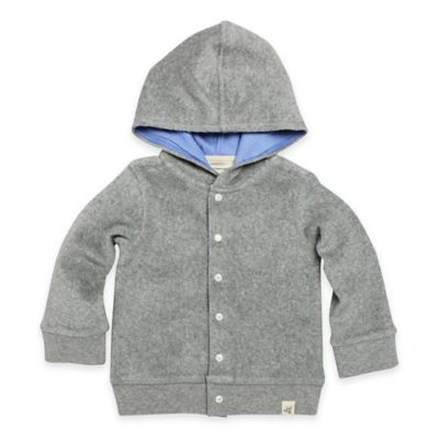 Burt's Bees Baby® Newborn Organic Cotton Knit Terry Hoodie in Heather Grey