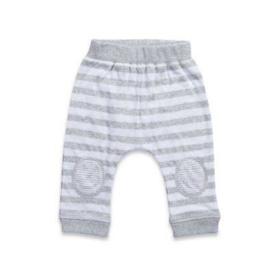 Kapital K™ Size 6-9M Doubleknit Knee Patch Cuffed Pant in Grey/White