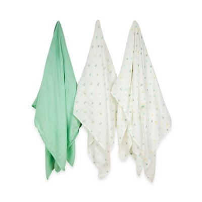 Weegoamigo 3-Pack One Direction Silky Soft Rayon made from Bamboo Muslin Swaddles