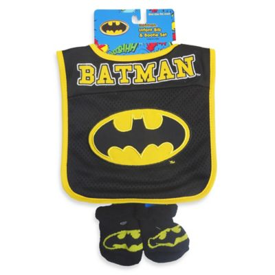 DC Comics™ Batman Bib And Bootie Set in Black/Yellow
