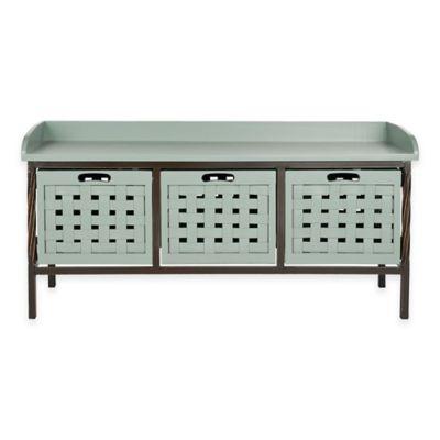 Safavieh Isaac 3-Drawer Storage Bench in Green