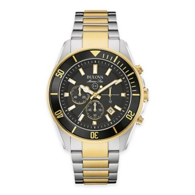 Bulova Men's 43mm Marine Star Chronograph Watch in Two-Tone Stainless Steel