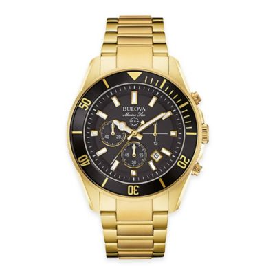 Bulova Men's 43mm Marine Star Chronograph Watch in Goldtone Stainless Steel
