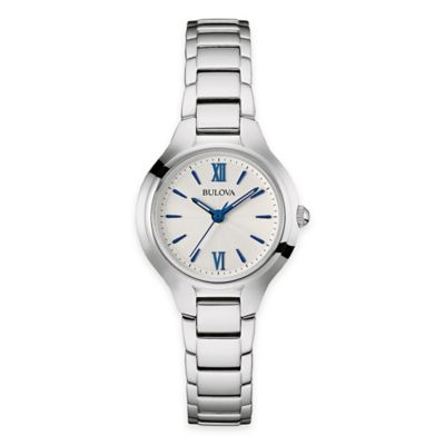 Bulova Ladies' 28mm Slim Bracelet Watch in Stainless Steel