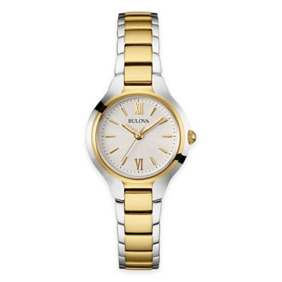 Bulova Ladies' 28mm Slim Bracelet Watch in Two-Tone Stainless Steel