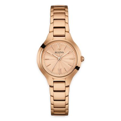 Bulova Ladies' 28mm Slim Bracelet Watch in Goldtone Stainless Steel