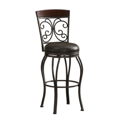 American Heritage Amelia Swivel Counter Stool in Pepper