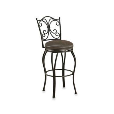 American Heritage Aurora Swivel Counter Stool in Pepper