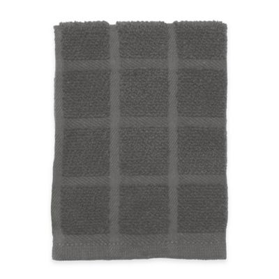 Kitchensmart® Solid 12-Inch x 12-Inch Dish Cloth in Mineral Grey
