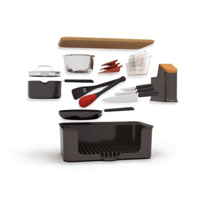 Kitchen in a Box 14-Piece Set in Black