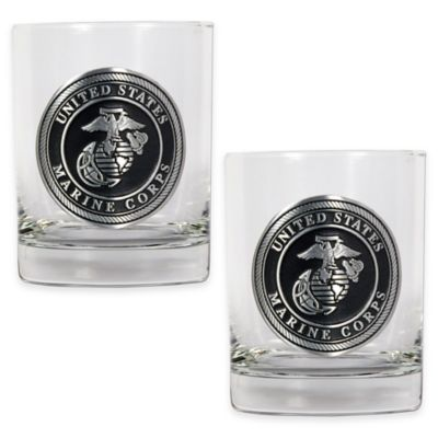 United States Marine Corps Rocks Glasses (Set of 2)