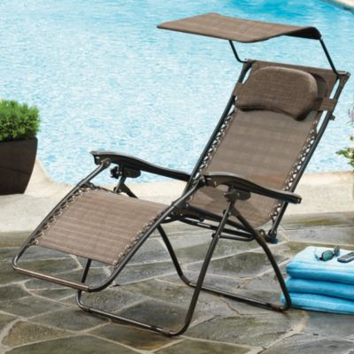 Oversized Recliner with Canopy