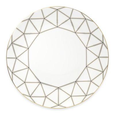 Navy Gold Dinner Plate