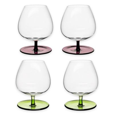 Sagaform® Rocking Bar Glasses with Stems in Assorted Colors (Set of 4)