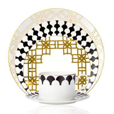B by Brandie™ Corsica 5-Piece Place Setting in Black/Gold