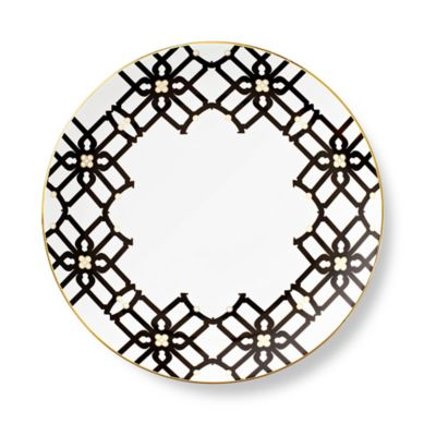 B by Brandie™ Grande Truman Dinner Plate in Black/Gold