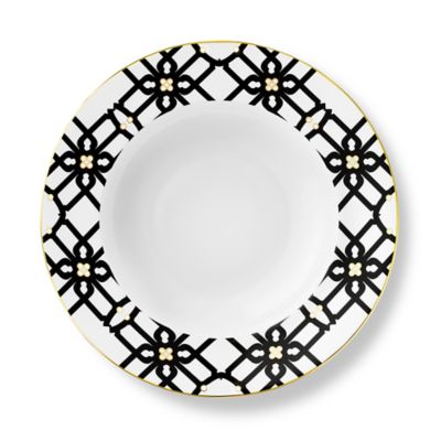 B by Brandie™ Grande Truman Rimmed Bowl in Black/Gold