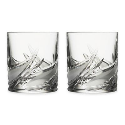 Lorren Home Trends Cetona Double Old Fashioned Glasses from the DaVinci Line (Set of 2)