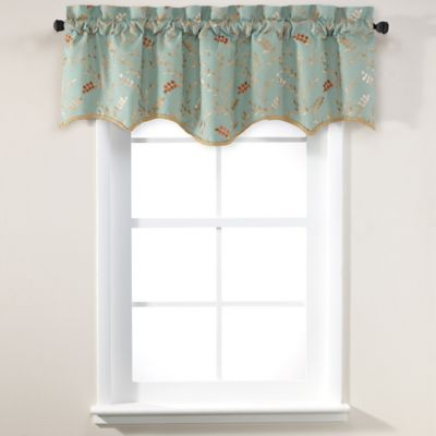 Gold Red Window Valance