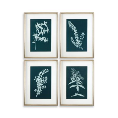 Uttermost Pale Stems of Spring Floral Wall Art (Set of 4)