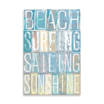 Beach Speak Canvas Wall Art