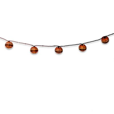 Paper Lantern String Lights Indoor : Indoor/Outdoor Small Paper Lantern String Lights (Set of 10) - Bed Bath & Beyond