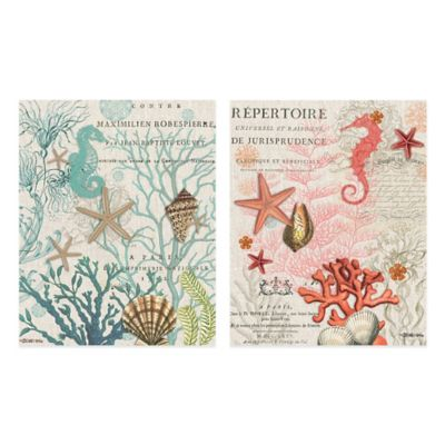 Coastal Collage Canvas Wall Art (Set of 2)