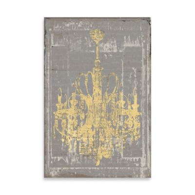 Distressed Chandelier Canvas Wall Art