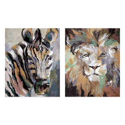 Soft Safari II Embellished Canvas Wall Art (Set of 2)