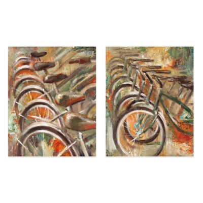Bicyclette Canvas Wall Art (Set of 2)