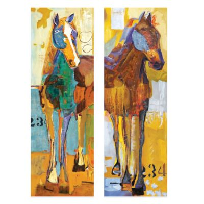 Equinus Embellished Canvas Wall Art (Set of 2)