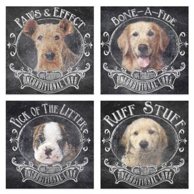Chalkboard Dogs Canvas Wall Art