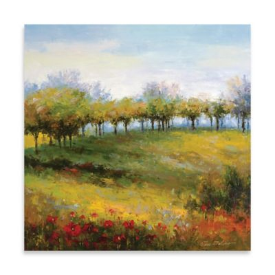 Tree Line Embellished Canvas Wall Art