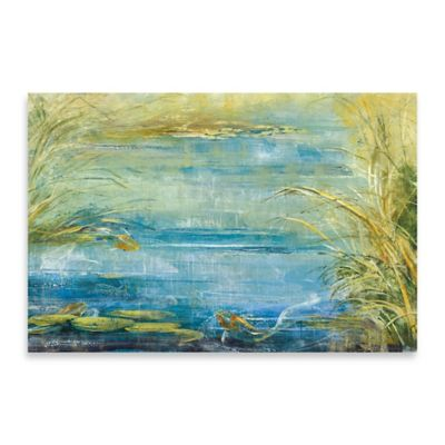 Quiet Sanctuary Embellished Canvas Wall Art