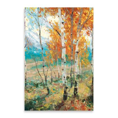 Aspen Symphony Embellished Canvas Wall Art