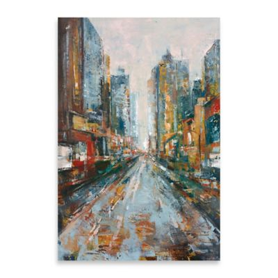 City View I Embellished Canvas Wall Art