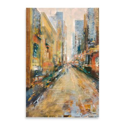 City View II Embellished Canvas Wall Art
