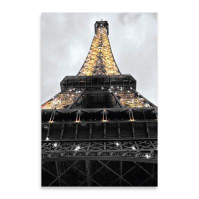 Eiffel Lights Embellished Canvas Wall Art