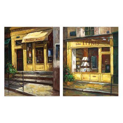 Paris Shop Canvas Art (Set of 2)