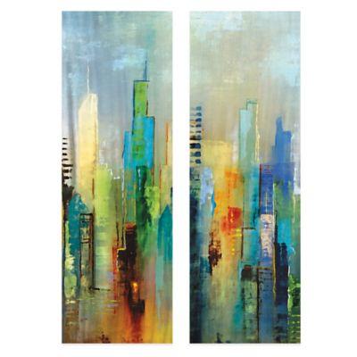 Steel Rising Panel I Canvas Art (Set of 2)