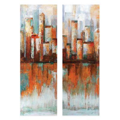 City Limits Canvas Art (Set of 2)