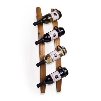 Dayna B® 4-Bottle Stave Rustic Vertical Wall Mount Wine Holder