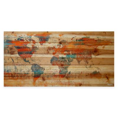 Global Warming Natural Pine Wood Wall Art